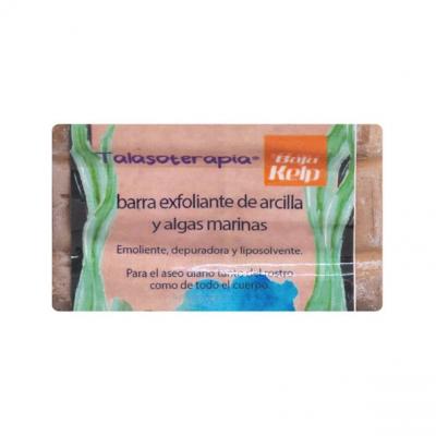 JABON BARRA EXFOLIANTE DE ARCILLA Y ALGAS